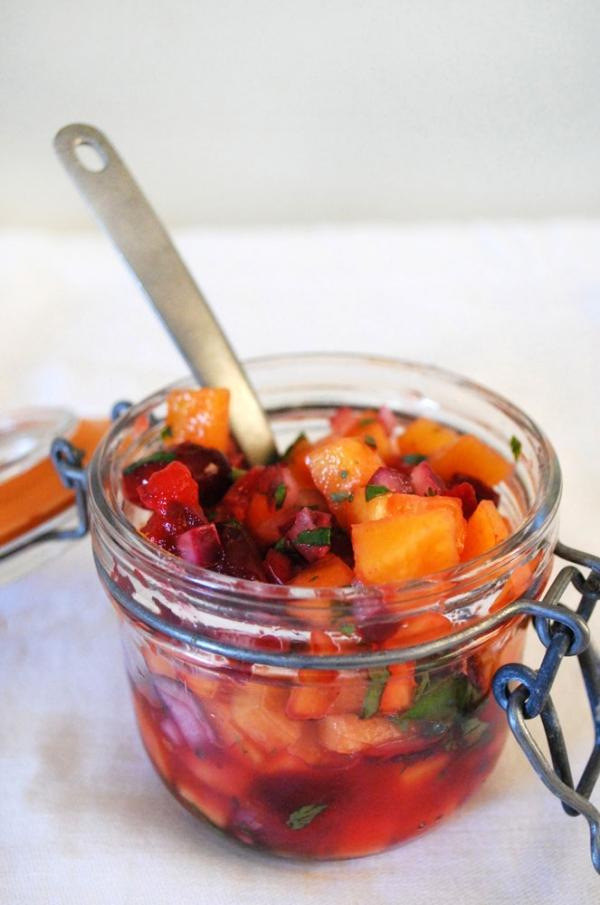 cranberry persimmon salsa