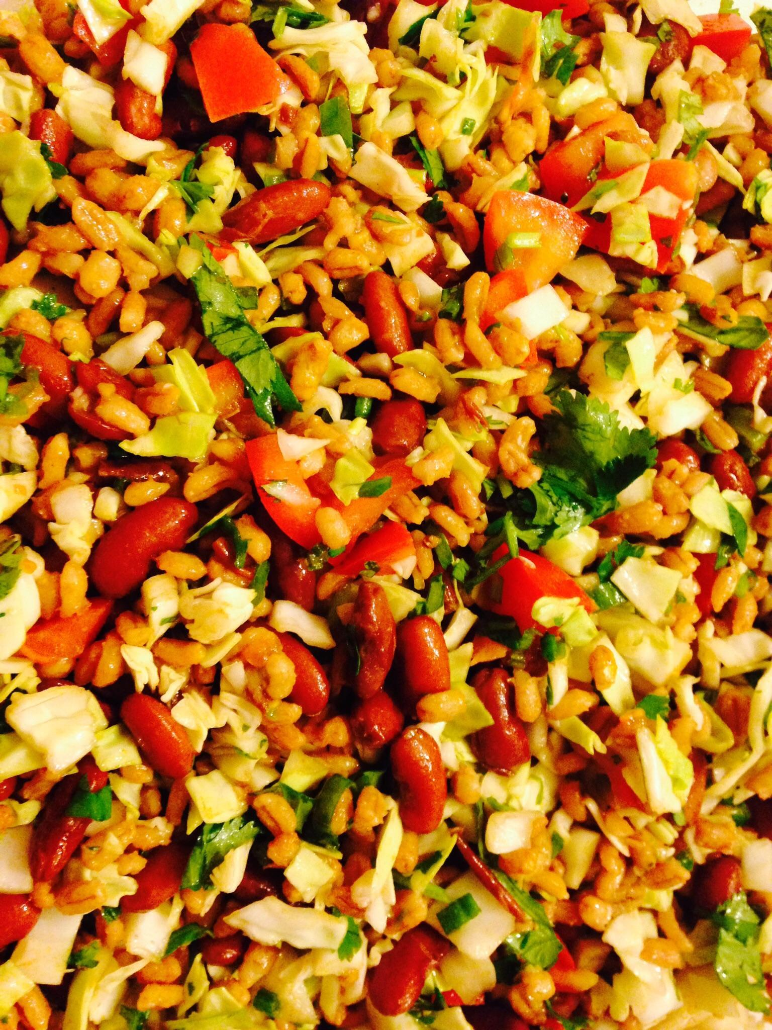 Barley and Bean Salad - a spicy, sexy spin on beans and rice 1