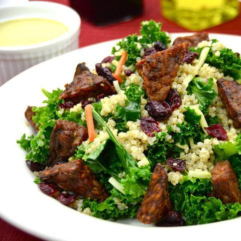 Veestro vegan meal delivery kale and quinoa salad