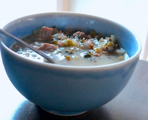 Turkey Stuffing Soup--a great way to use Thanksgiving leftovers