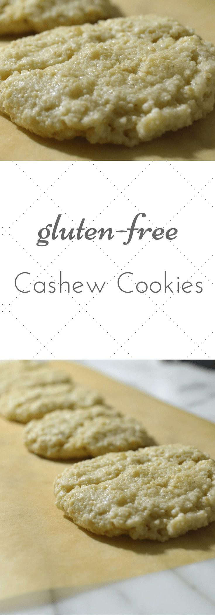 gluten-free cashew cookies long