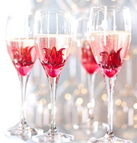 Wild Hibiscus Champagne Cocktail