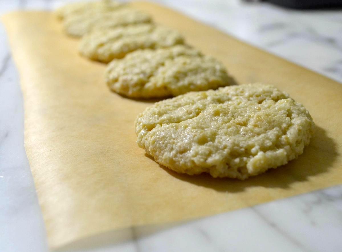 gluten-free cashew cookies on brown parchment