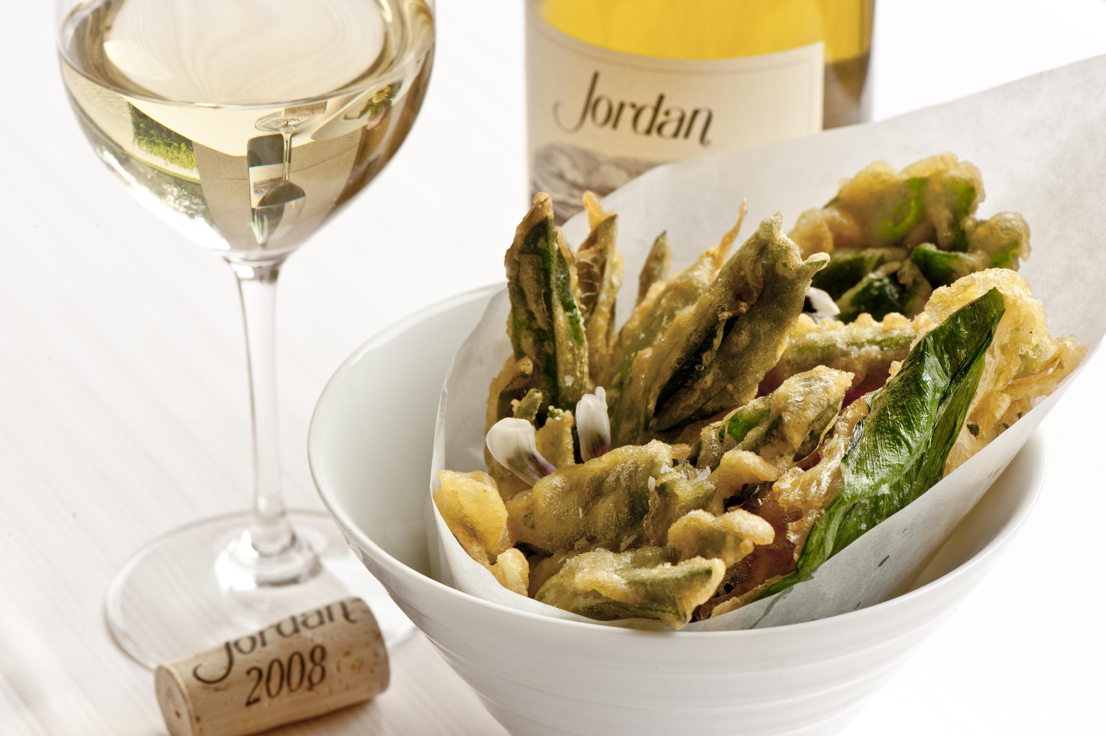 Vegetable tempura recipe and Jordan Chardonnay
