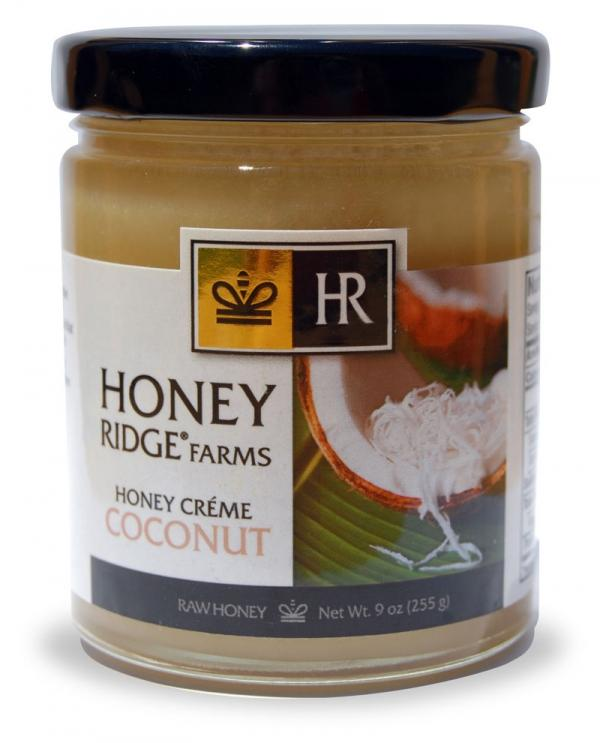 Closeup of Coconut Honey Créme jar