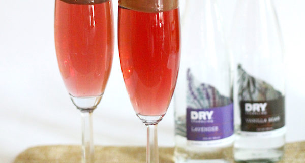 Dry Sparkling Love Potion Champagne Cocktail