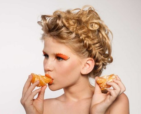 Closeup of Woman Eating Foods for Boosting a Woman's Libido