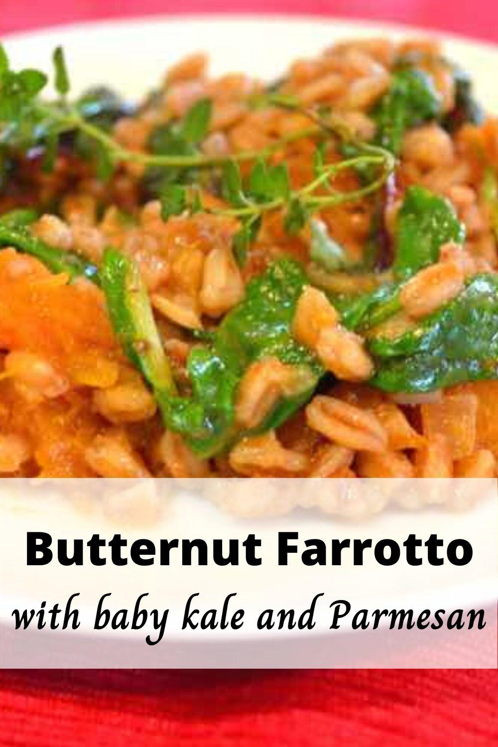 Farro Risotto Recipe with Butternut and Baby Kale