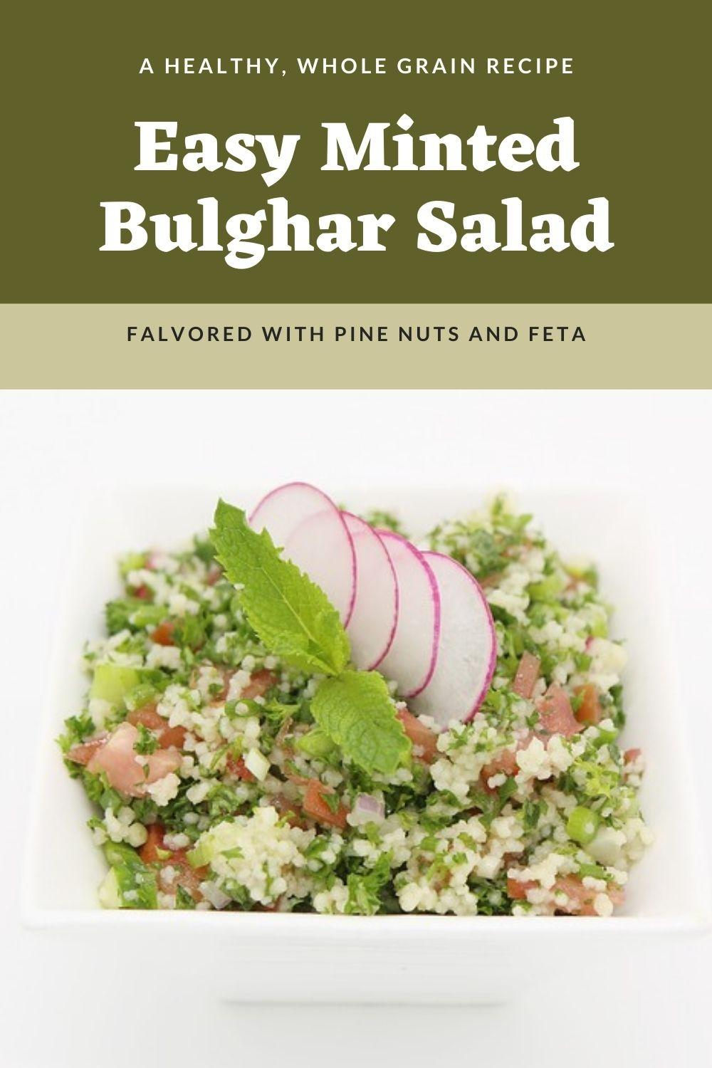 Minted Bulghar Salad Graphic