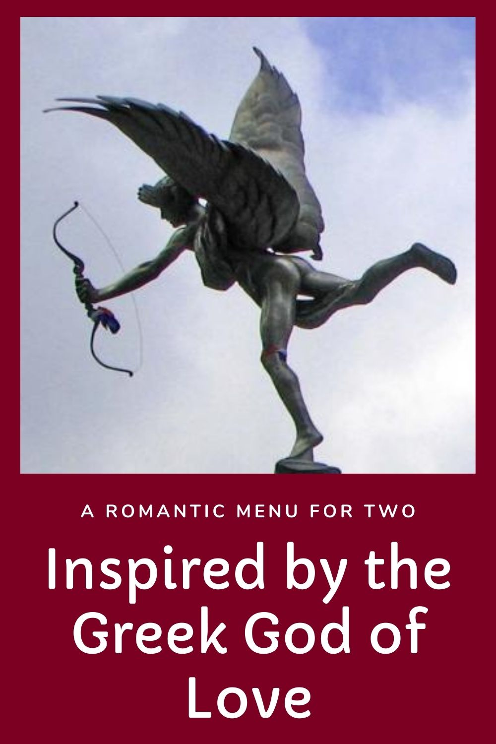 A romantic greek menu for two graphic