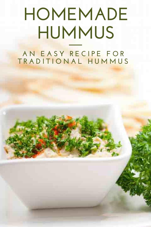 traditional hummus recipe graphic