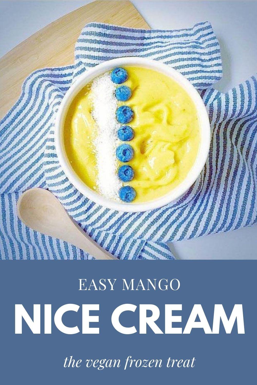 easy mango nice cream graphic