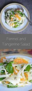 Fennel & Tangerine Salad with Arugula and Sweet Onion - a recipe for a winter salad filled with sweet fruit and crunch