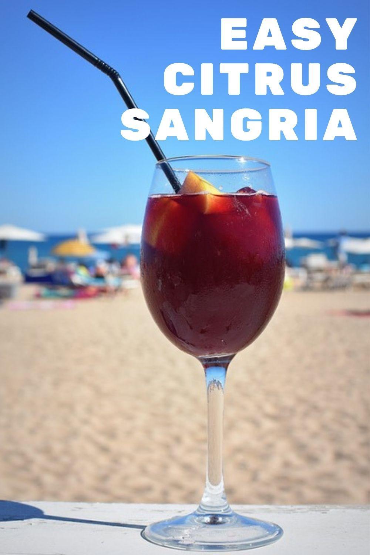 easy citrus sangria recipe graphic