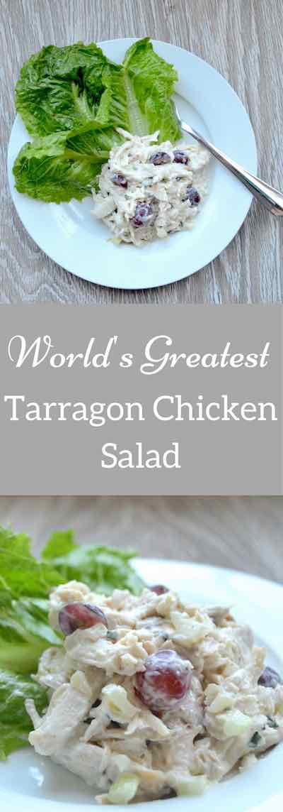 Tarragon Chicken Salad - this foolproof recipe starts with one key ingredient: succulent, high-quality white meat chicken. Use fresh herbs and dress it sparingly for the perfect chicken salad