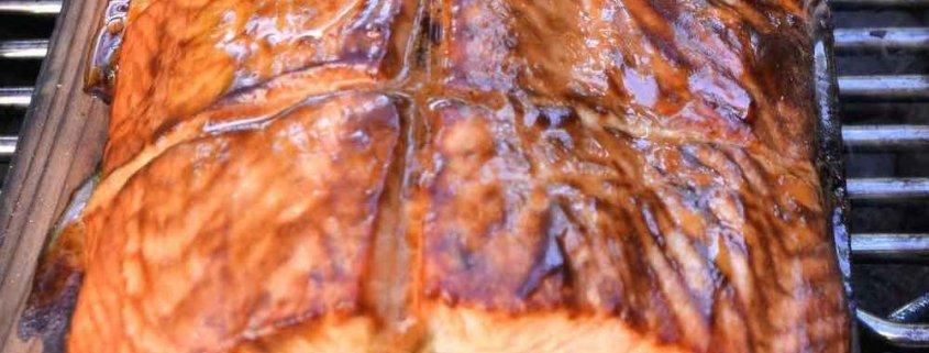 Sweet Hot Cedar Plank Salmon