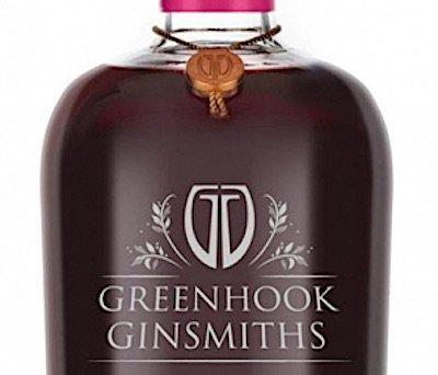 Closeup of Greenhook Ginsmiths Beach Plum Gin Liqueur label