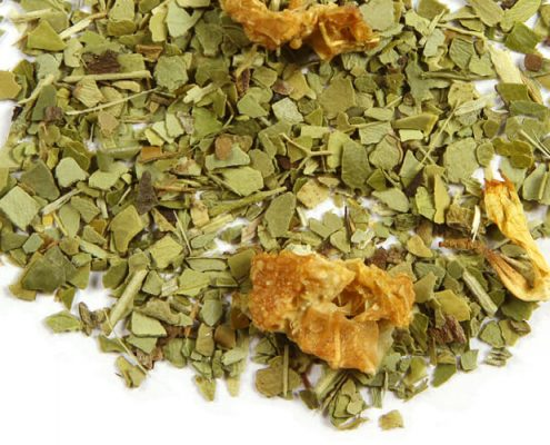 Closeup of Citrus Yerba Mate tea blend
