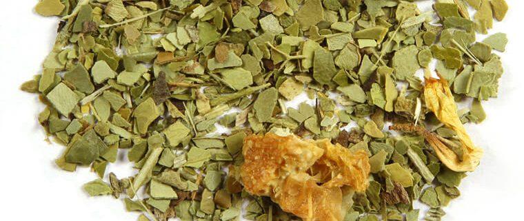 Closeup of Citrus Yerba Mate tea blend