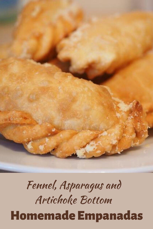 Fennel, asparagus and Artichoke Bottom Empanadas