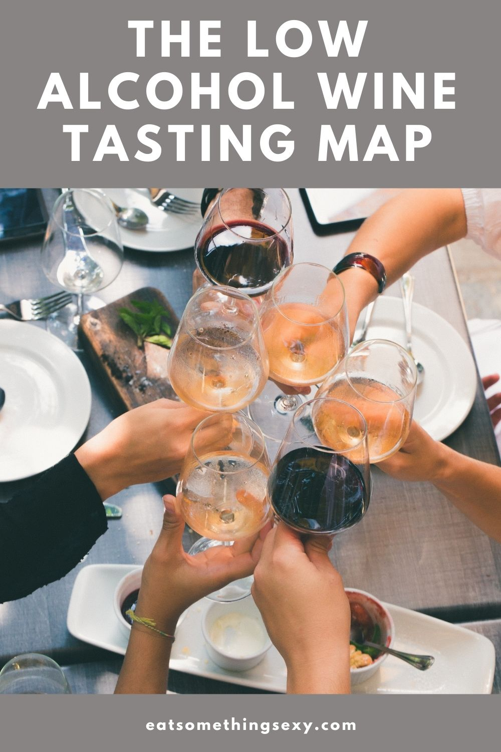 low alcohol wine tasting map graphic