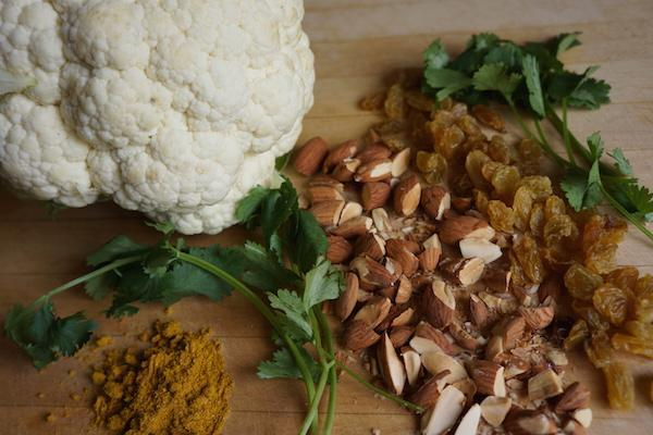 Curry Roasted Cauliflower ingredients