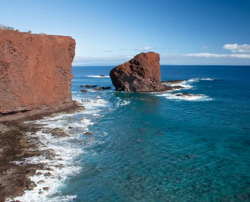 Sweetheart Rock on Lanai's coast