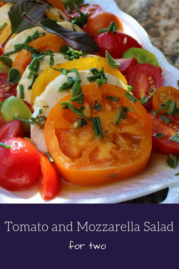 Tomato and Mozzarella Salad for Two