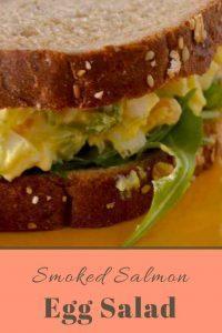 Smoked Salmon Egg Salad with Arugula - this recipe gives ordinary egg salad an upgrade.