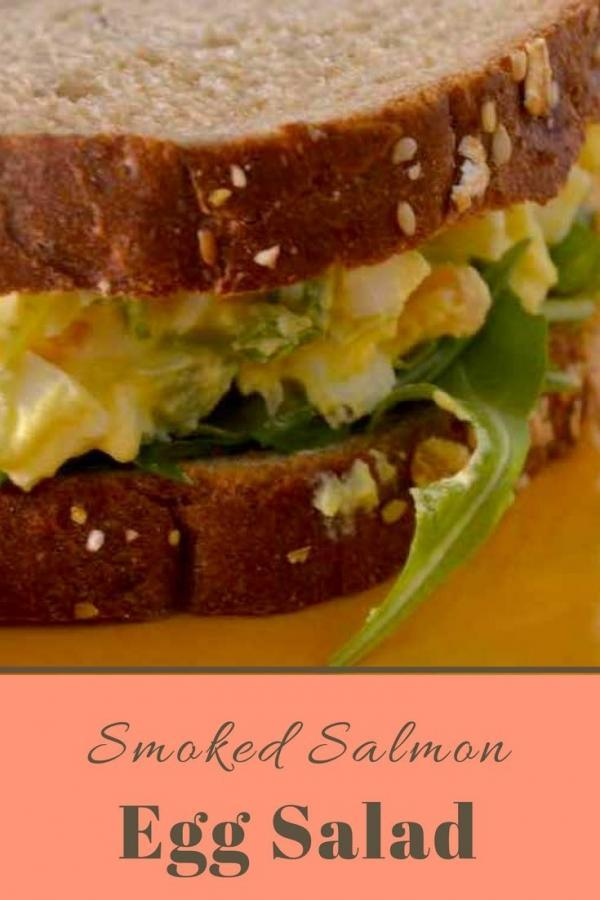 Smoked Salmon Egg Salad with Arugula - this recipe gives ordinary egg salad an upgrade.