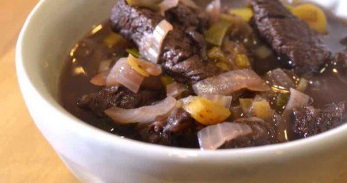 Bison Bourguignon--an easy weeknight stew recipe