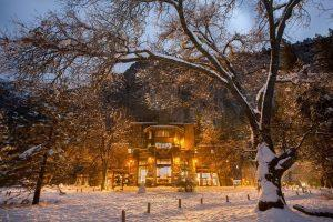 The Majestic Hotel at Yosemite in winter