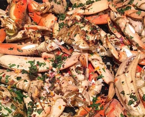 Oven Roasted Dungeness Crab