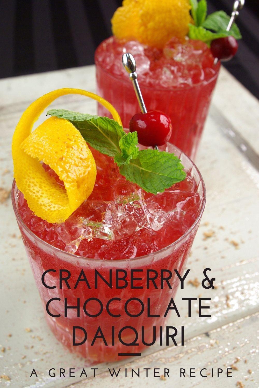 Chocolate and Cranberry Daiquiri graphic