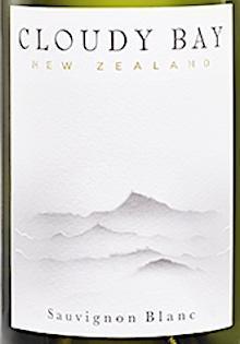 Label Shot of Cloudy Bay Sauvignon Blanc