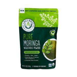 Product shot of Kuli Kuli Moringa Powder