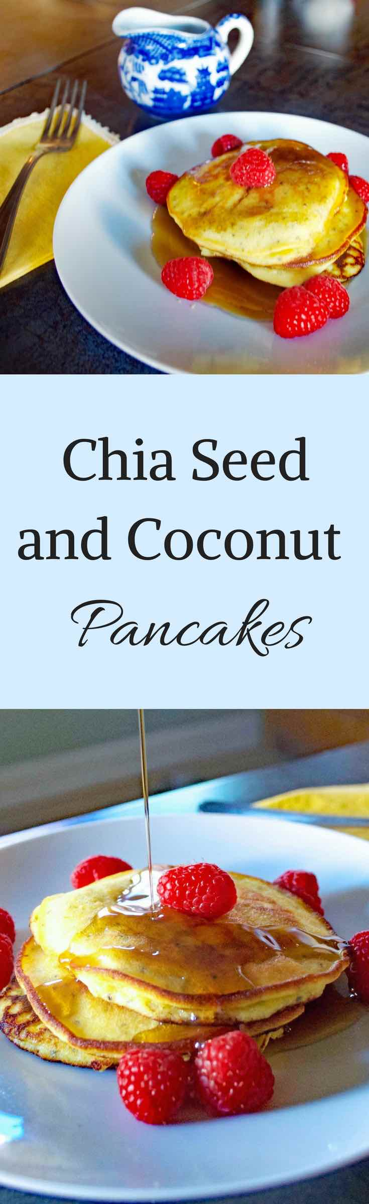 Chia Seed and Coconut Flour Pancake Pinterest Graphic
