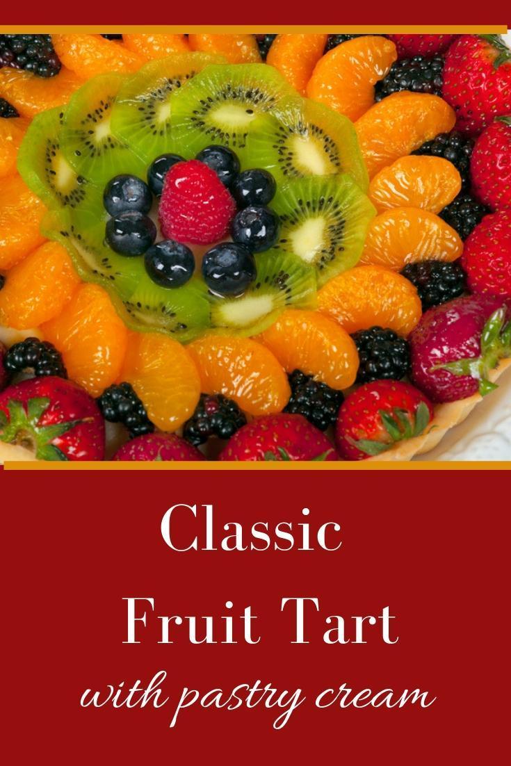 French Fruit Tart Recipe graphic