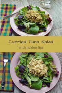 Curried Tuna Salad with Golden Figs (a fast and simple recipe that gets dinner for two on the table in minutes)