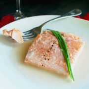 Sexy Poached Salmon in Rosé Wine Sauce