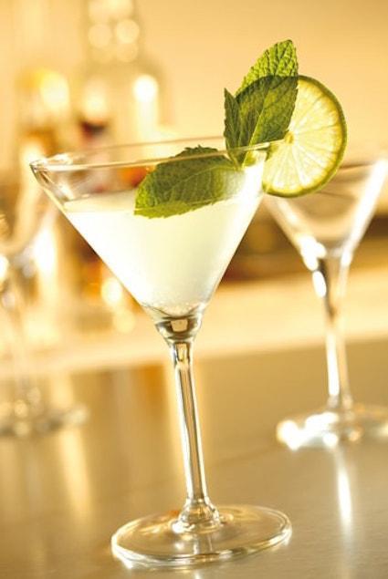 Two La Dolce Veev cocktails in martini glasses
