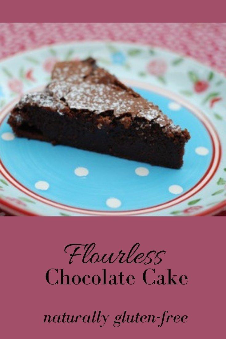 Flourless Chocolate Cake Pinnable Graphic