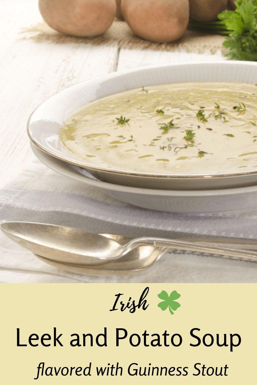 Irish Leek and Potato Soup with Stout