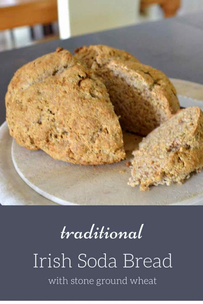 Homemade Soda Bread - a traditional Irish recipe made from 5 ingredients. So quick it takes less than an hour to make a warm loaf of bread.