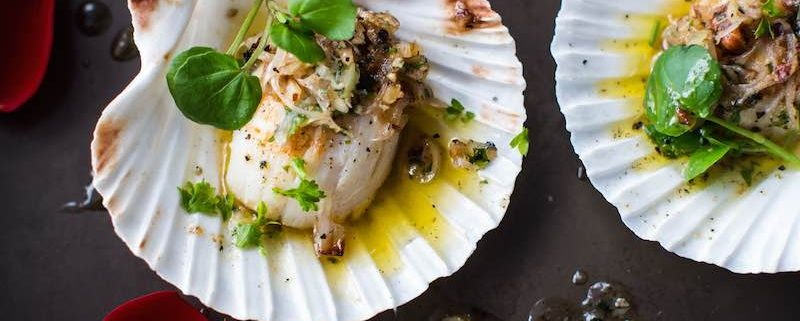 Recipe for Scallops with a Light Watercress Salad