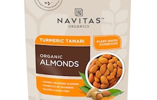 Turmeric and Tamari Almonds - these delicious, organic packaged snacks are full of good-for-you ingredients