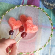 Three Chili Lime Watermelon Skewers