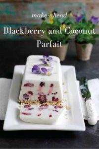Blackberry and Coconut Parfait - a simple recipe that can be made in advance