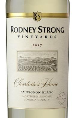 Rodney Strong Charlotte's Home Sauvignon Blanc--the quintessential example of Sonoma County Sauvignon Blanc