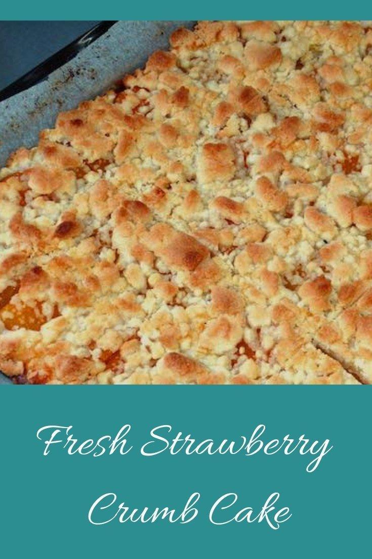Strawberry Crumb Cake Pinnable Graphic